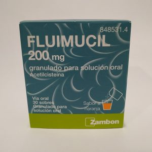 Fluimucil 200 mg 30 sobres granulado para solución oral