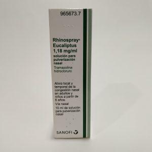 Rhinospray Eucaliptus 1,18 mg/ml solución para pulverización nasal 10 mL