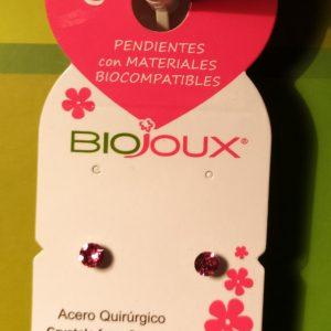 Pendientes Bijoux Cristal Rosa