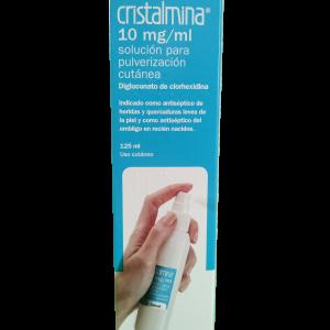 Cristalmina 10 mg/ml solución para pulverización cutánea 125 mL