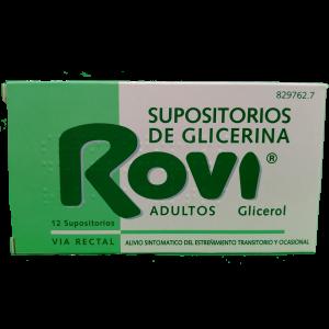 Supositorios de glicerina Rovi Adultos 12 Supositorios