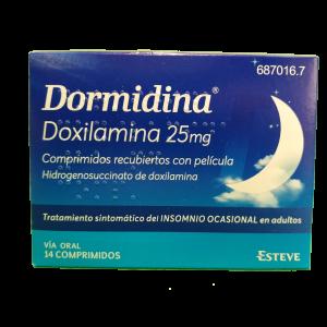 Dormidina Doxilamina 25 mg 14 Comprimidos recubiertos con película